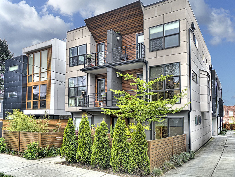 Modern townhome on 12th urbnlivn for Townhouse architecture designs